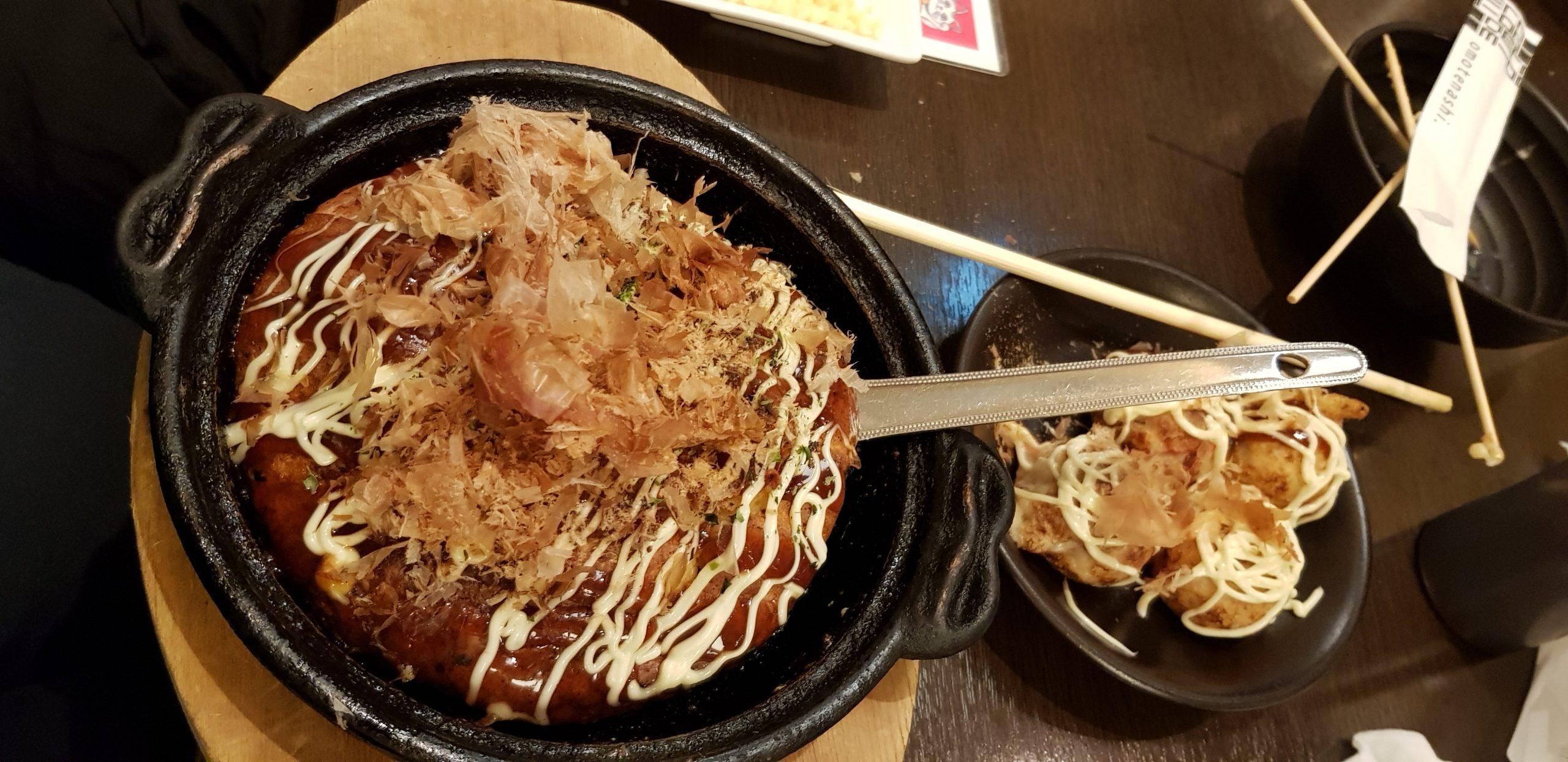 Okonomiyaki and takoyaki
