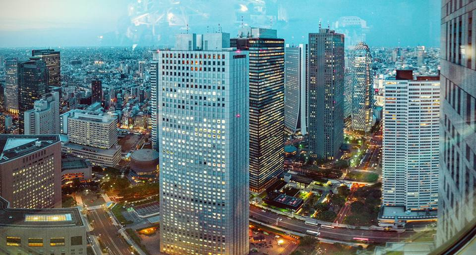 view from Metropolitan Government building, Shinjuku, Tokyo